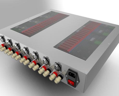 440mm 2RU multichannel amplifier